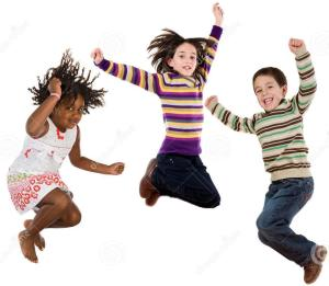 http://www.dreamstime.com/stock-images-three-happy-children-jumping-once-image8414304